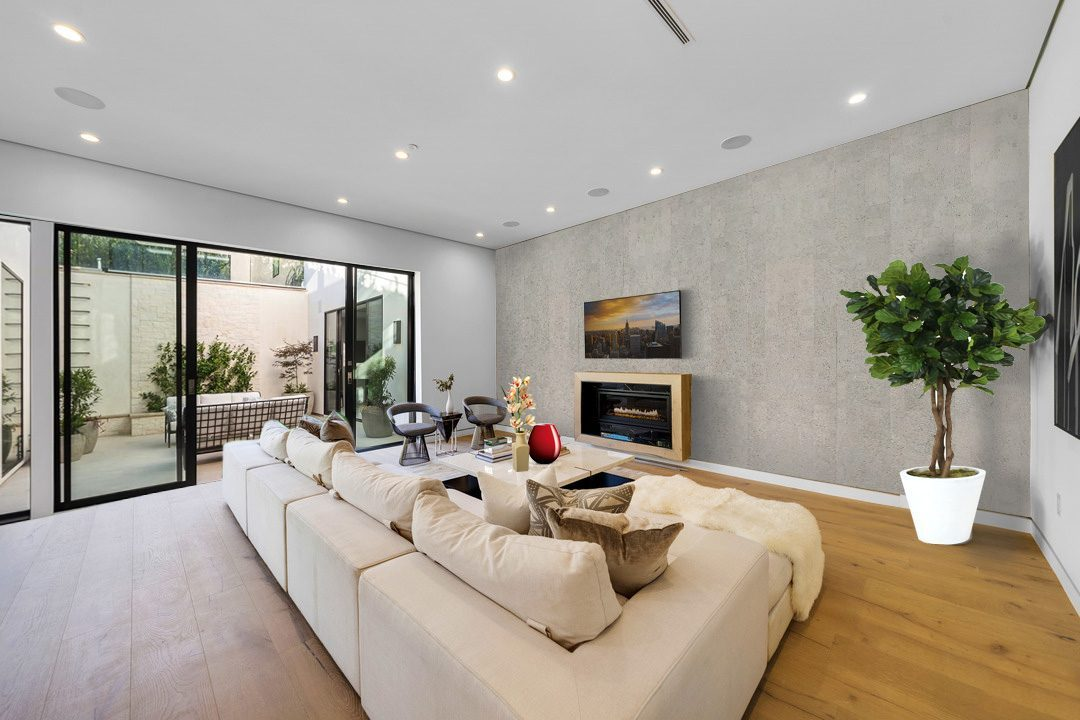 gray leather cork tiles feature wall basement
