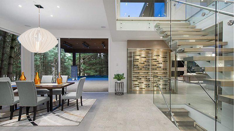 grey flooring gray leather modern home