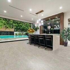 grey flooring gray leather modern house