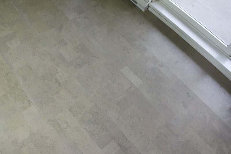 Gray Leather Cork Tiles 6mm Cancork Floor