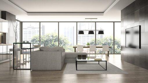 grey maple 5 inch engineered hardwood flooring living room