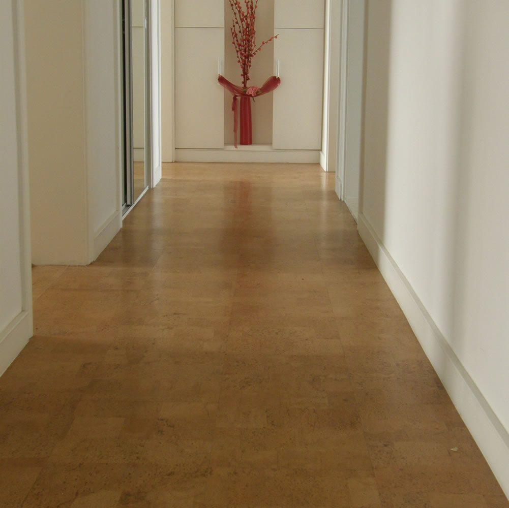 Hallway Natural Cork Flooring