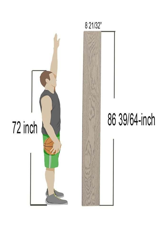 hardwood flooring plank long with man reach tall
