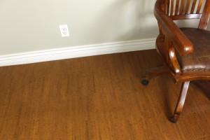 home office flooring cork brown birch