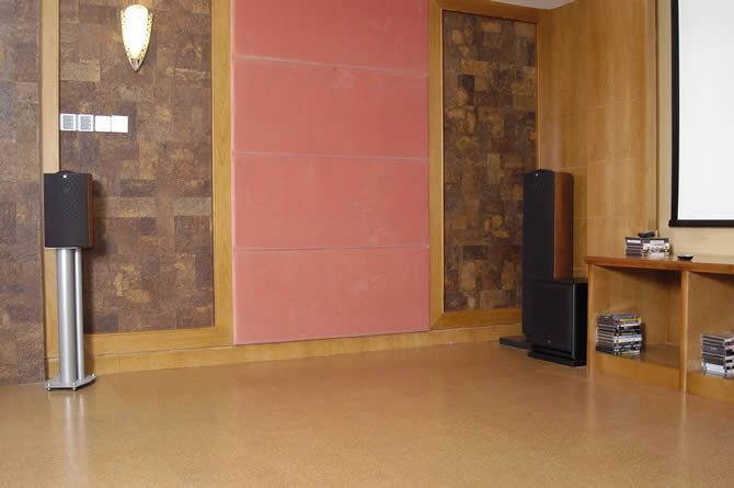home theater cork wall tiles