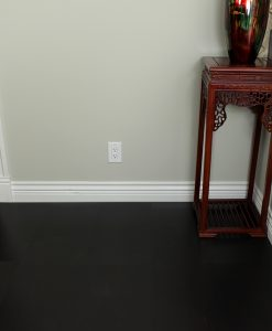 jet black floor covering