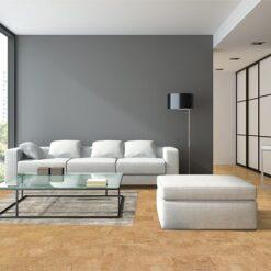 leather cork floor interior modern design loft noise buffe cut noise materinal