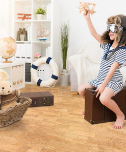 leather cork flooring kids play room