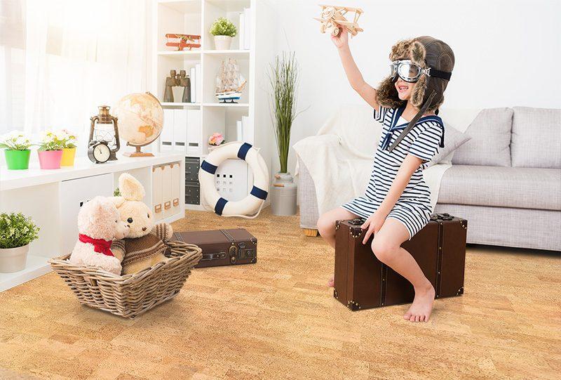 leather cork flooring kids play room