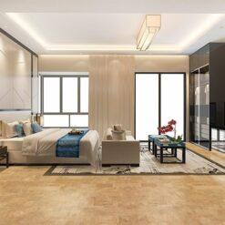 leather cork tiles interior modern design bedroom noise buffe cut noise flooring material