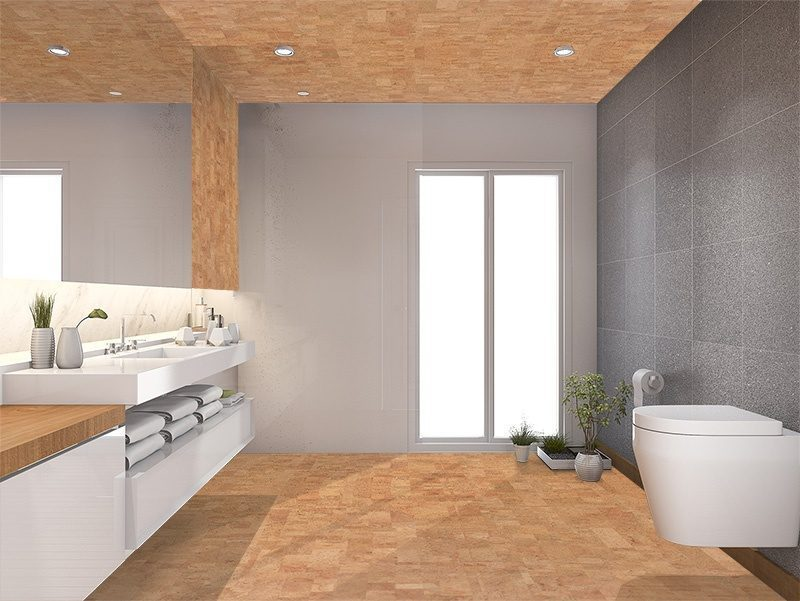 leather cork tiles modern wood toilet washroom