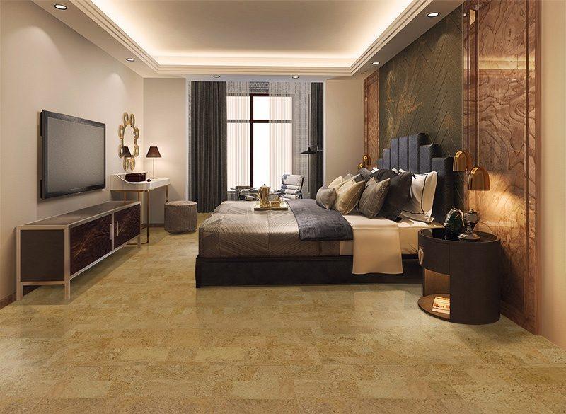 leather forna cork zero voc natural bedroom flooring