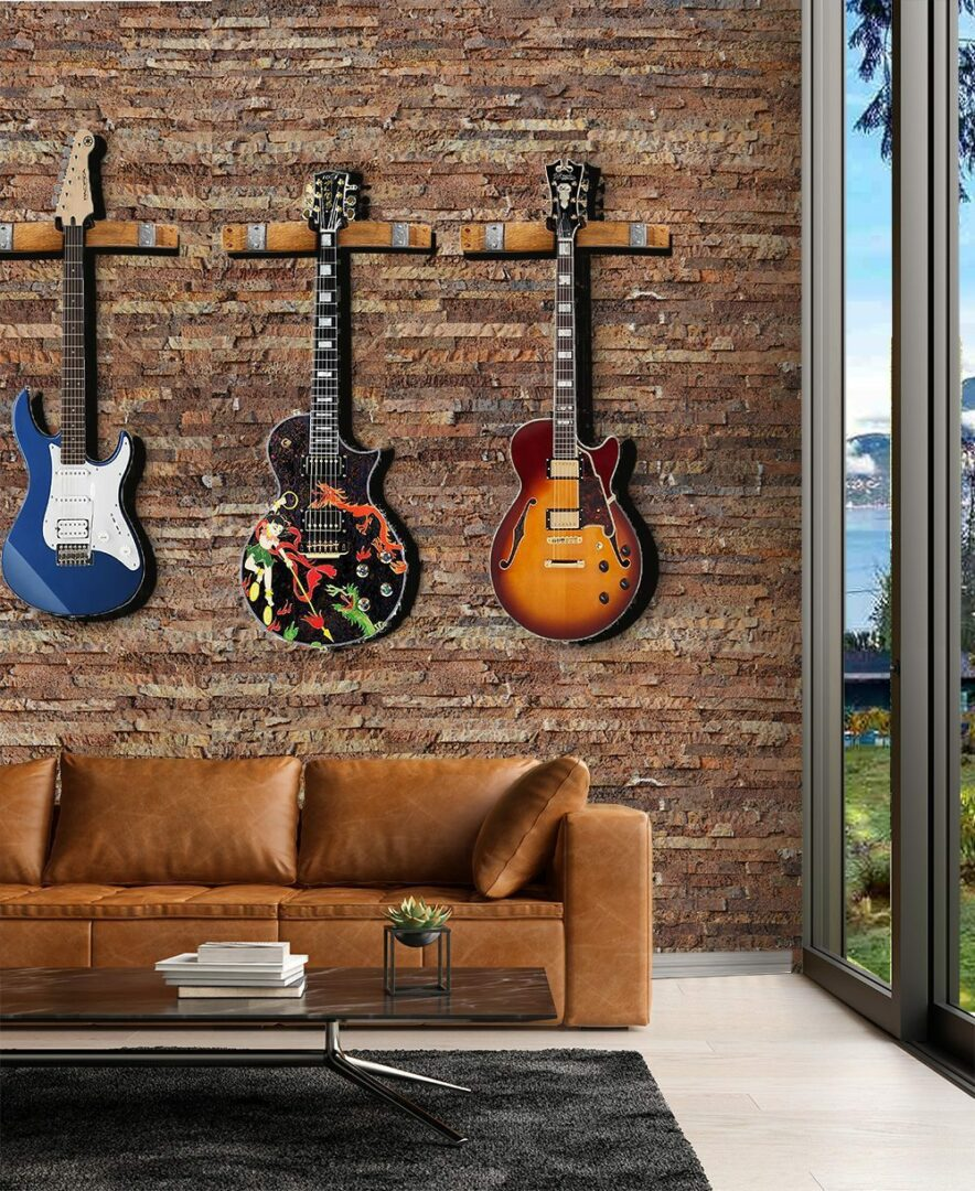 ledge stone cork acoustic wall penals guitar music room