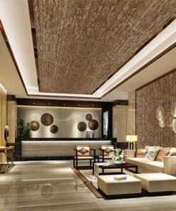 ledge stone narrow brick cork ceiling tiles echo reducing acoustic panels