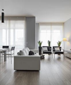 light cloud grey white oak hardwood floor liveing room