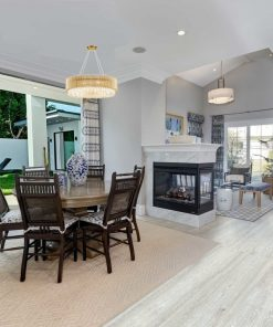 light grey oak design cork floors dinning room