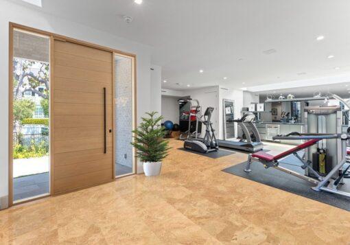 logan cork flooring workout room ideas