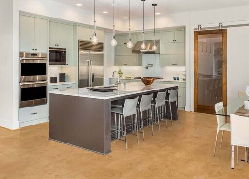 logan cork floors modern kitchen design island cabinets