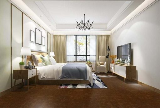 mahogany ripple cork floor home sweet design inspiration bedroom hotel
