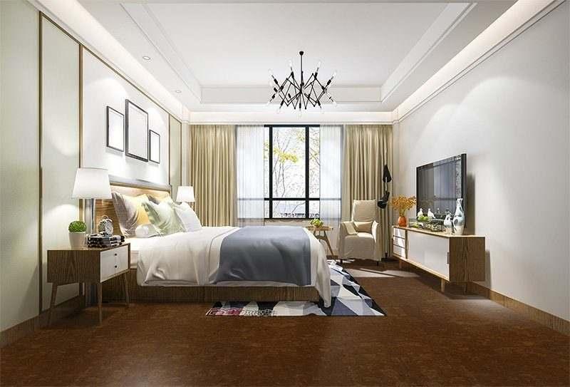 mahogany ripple cork floor home sweet design inspiration bedroom hotel