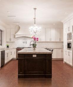mahogany ripple cork flooring kitchen design architecture home remodel style renovation life
