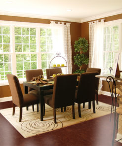mahogany ripple forna cork flooring floating dinning room
