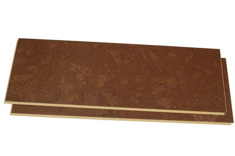 mahogany ripple uniclic system forna 12mm cork flooring floating