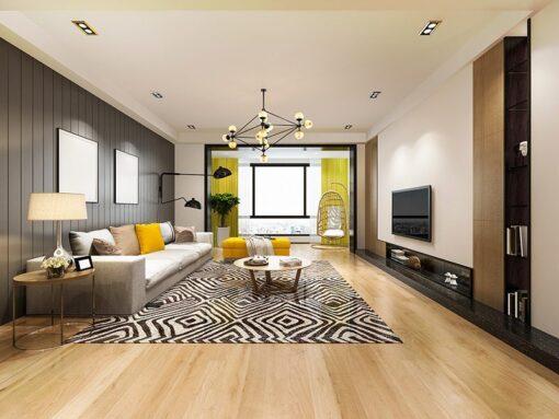 milkway white oak hardwood flooring spacious living room design