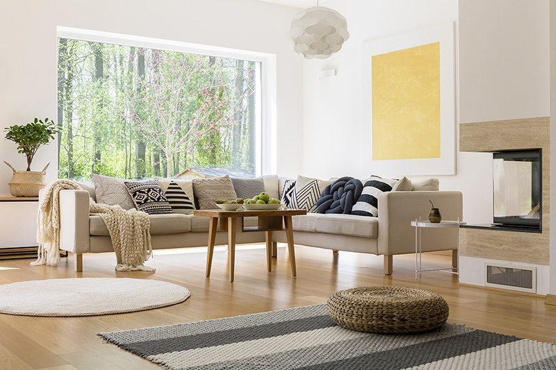 milkway white oak hardwood flooring spacious livingroom design idea