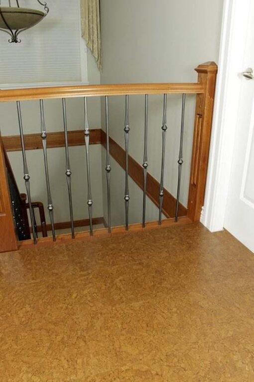 modern stair floors design with cork