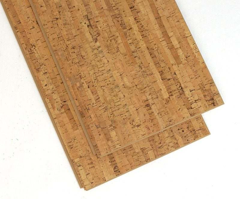Cork floor planks silver birch 11mm floating forna for Sustainable cork flooring
