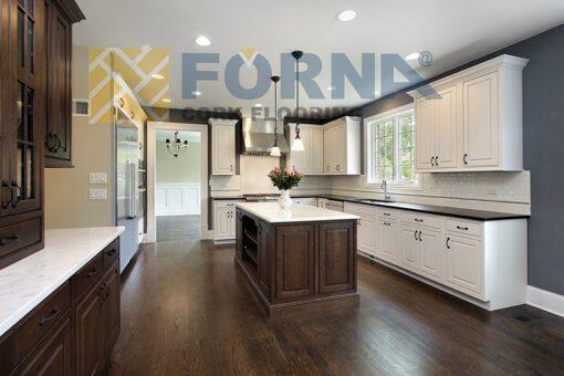 night owl engineered hardwood floor dark brown kitchen