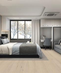 oak creme cork flooring luxury bedroom