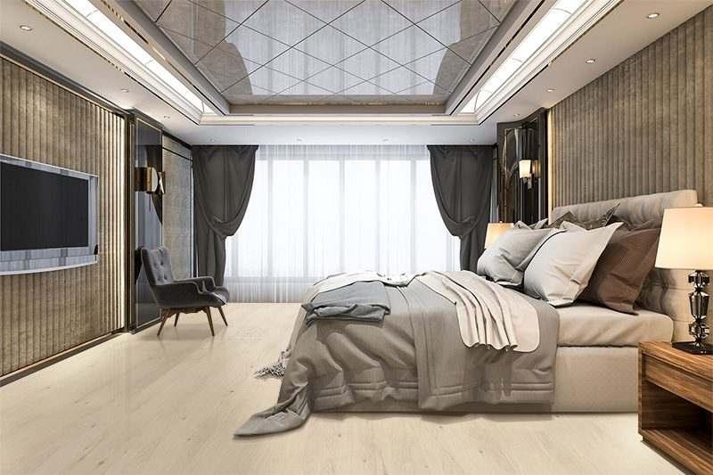 oak creme cork wood flooring beautiful luxury bedroom suite in hotel with tv