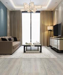 overcast engineered hardwood flooring fossil grey clour modern living room design 2020 trend