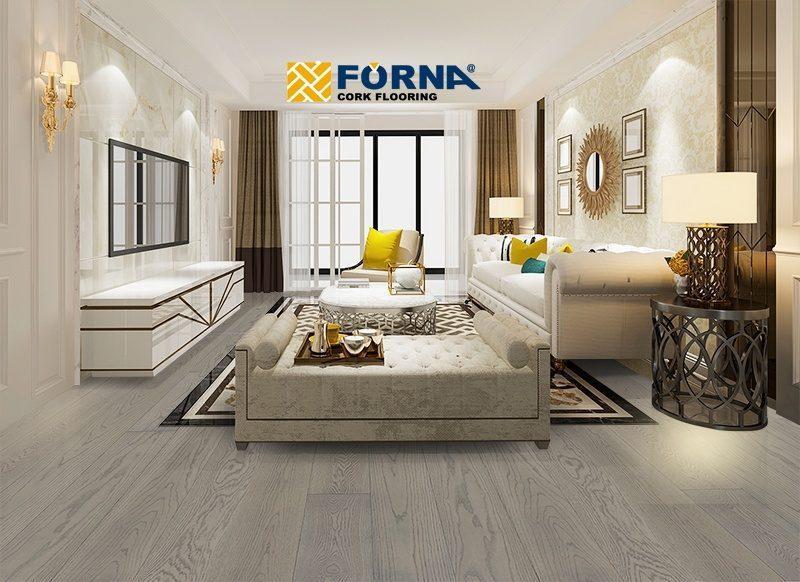 overcast engineered overcast hardwood flooring fossil grey clour modern bedroom design 2020 trend forna