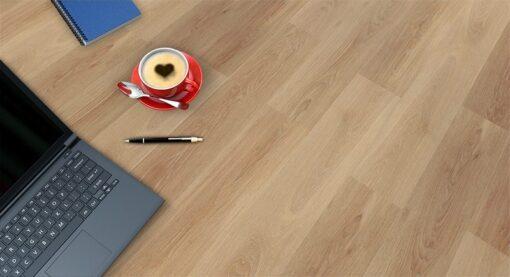 pine wood fusion cork floor computer coffee note book