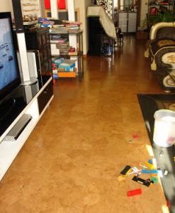 playroom cork floor