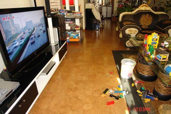 playroom cork floor