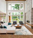 rocky bush beveled edges cork floor beautiful living room interior