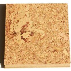 salami cork floating flooring sample