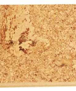 salami cork floating flooring sample