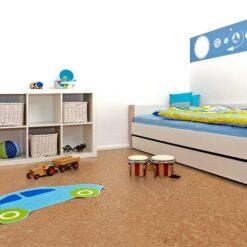 salami cork floor kids playroom bed rack with toys