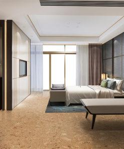 salami cork floor luxury classic modern bedroom suite in hotel