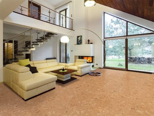 salami cork floors modern house entresol spacious living room high ceiling