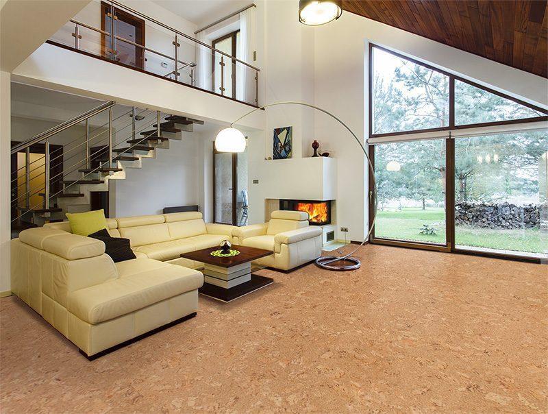 Natural flooring salami cork 11mm floating 21 sf per box for Sustainable cork flooring