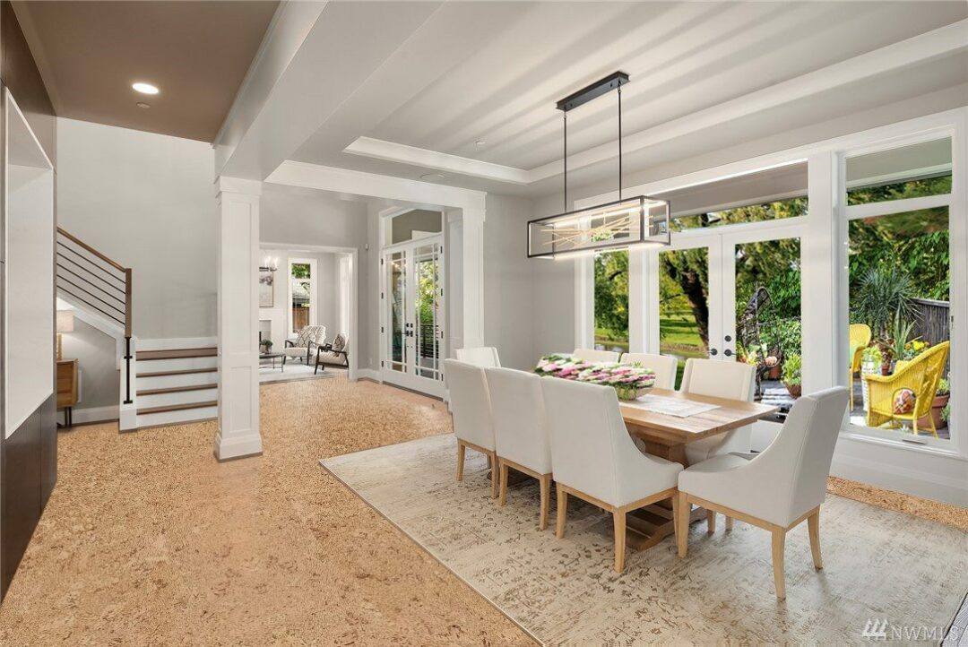 salami forna cork tiles in a modern luxury dinning room