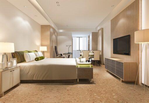 salami icork cancork cork floor luxury modern bedroom suite in hotel