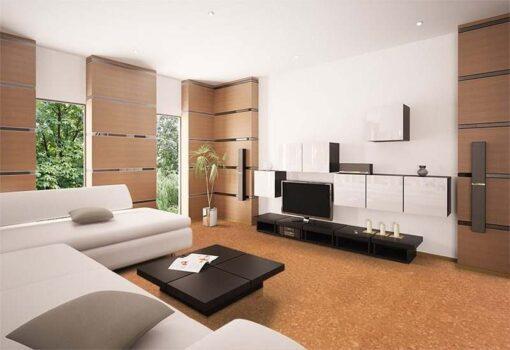 sand marble cork tiles modern living room white sofa