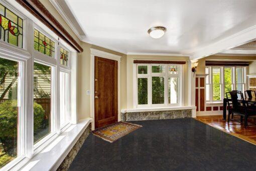 shadow black forna cork flooring luxury interior foyer black floor
